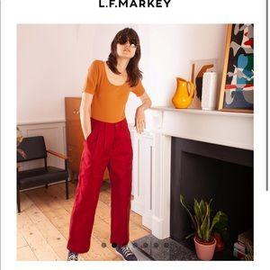 L.F. Markey CLASSIC SLACKS IN RED - size 8